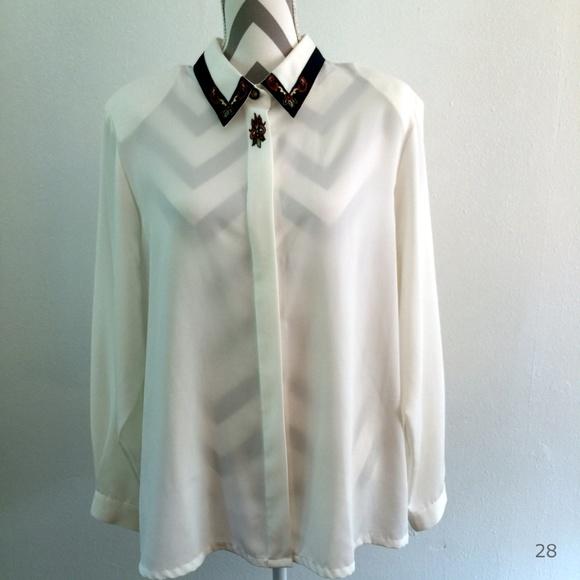 1d8e5a0d511393 Koret Tops | Sheer Long Sleeve Blouse Size 18 | Poshmark